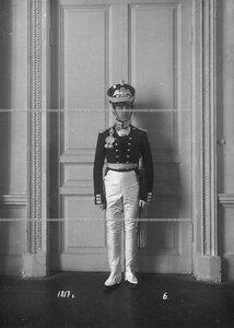 Обер-офицер батальона в форме образца 1817 года.
