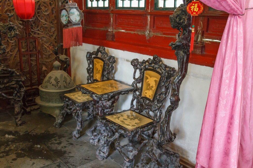 Стол со стульями, китайский интерьер, китайская мебель