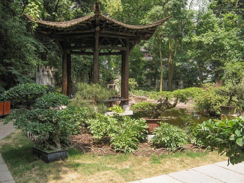 Беседка в саду, Люхэта, Ханчжоу