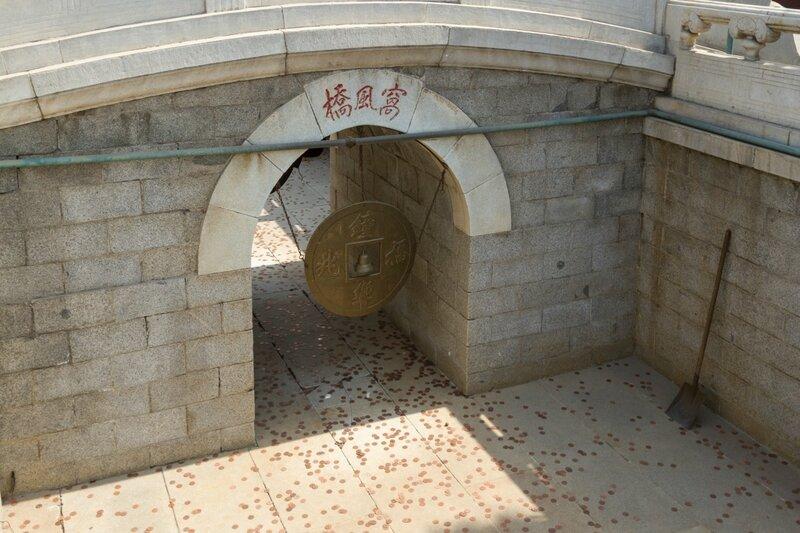 Монета в пролете моста Вофэнцяо, храм Белого облака, Пекин