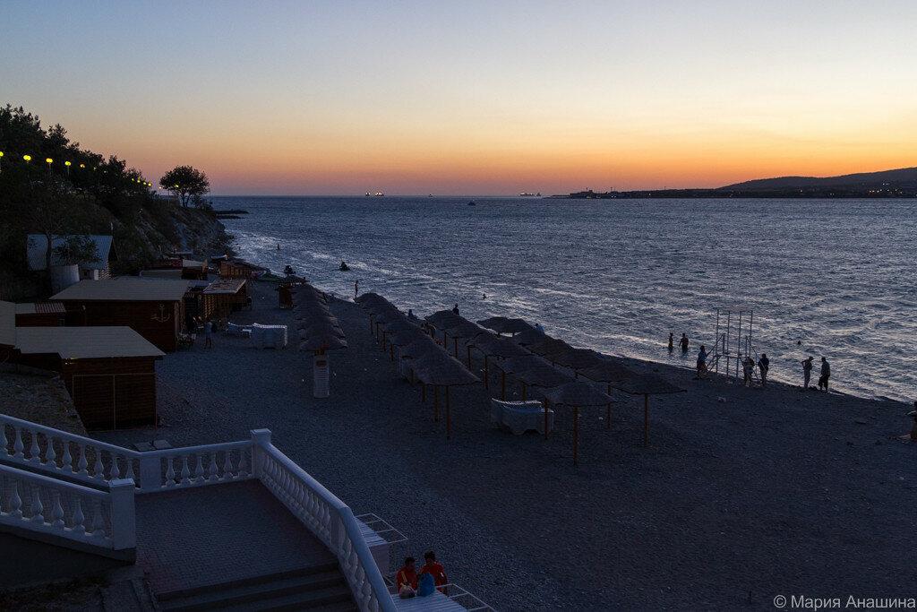 Опустевший пляж, Геленджик