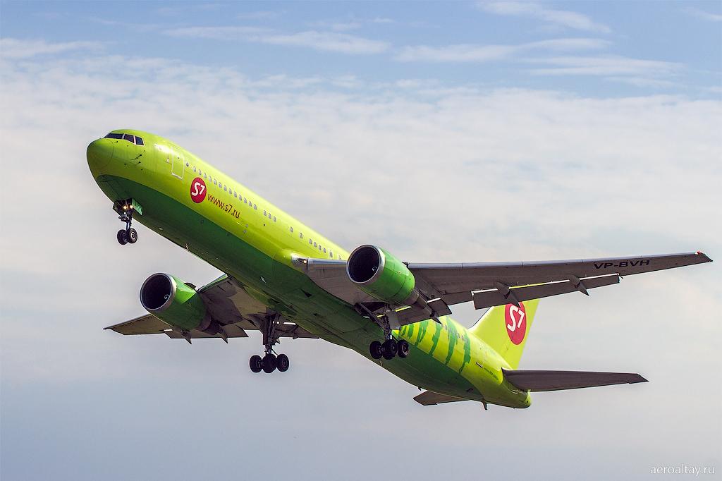 Вылет рейса 218 компании S7 из Барнаула в Москву