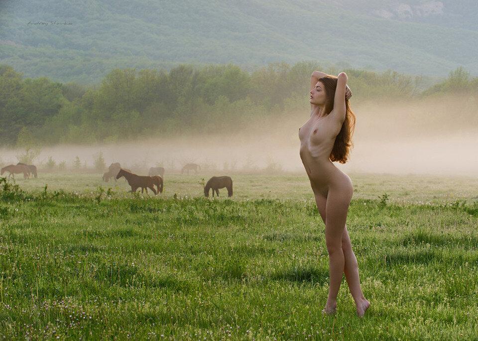 В деревне порно утра
