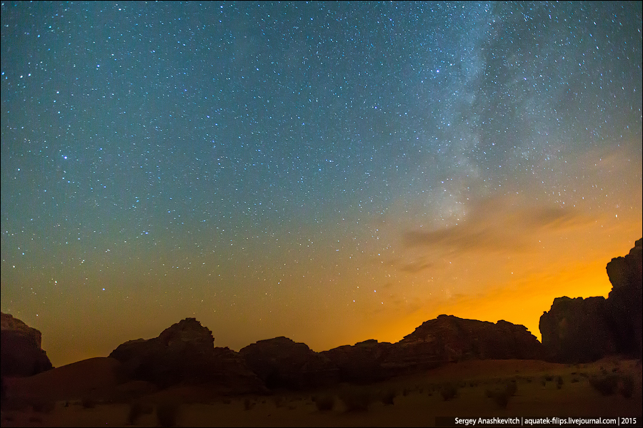 Wadi Rum by night / Ночь в пустыне Вади Рам