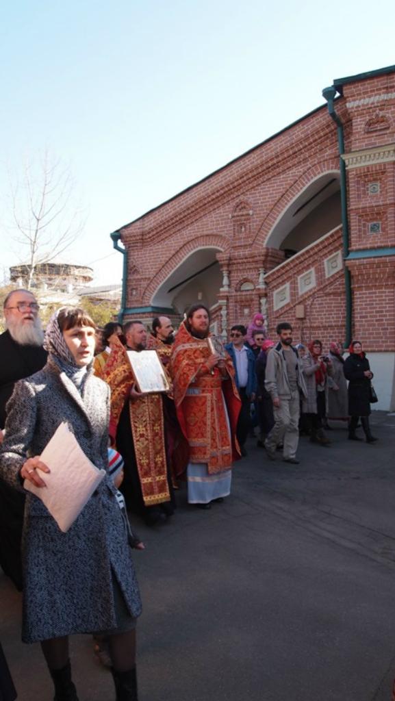Крестный ход в субботу Светлой седмицы. 2014