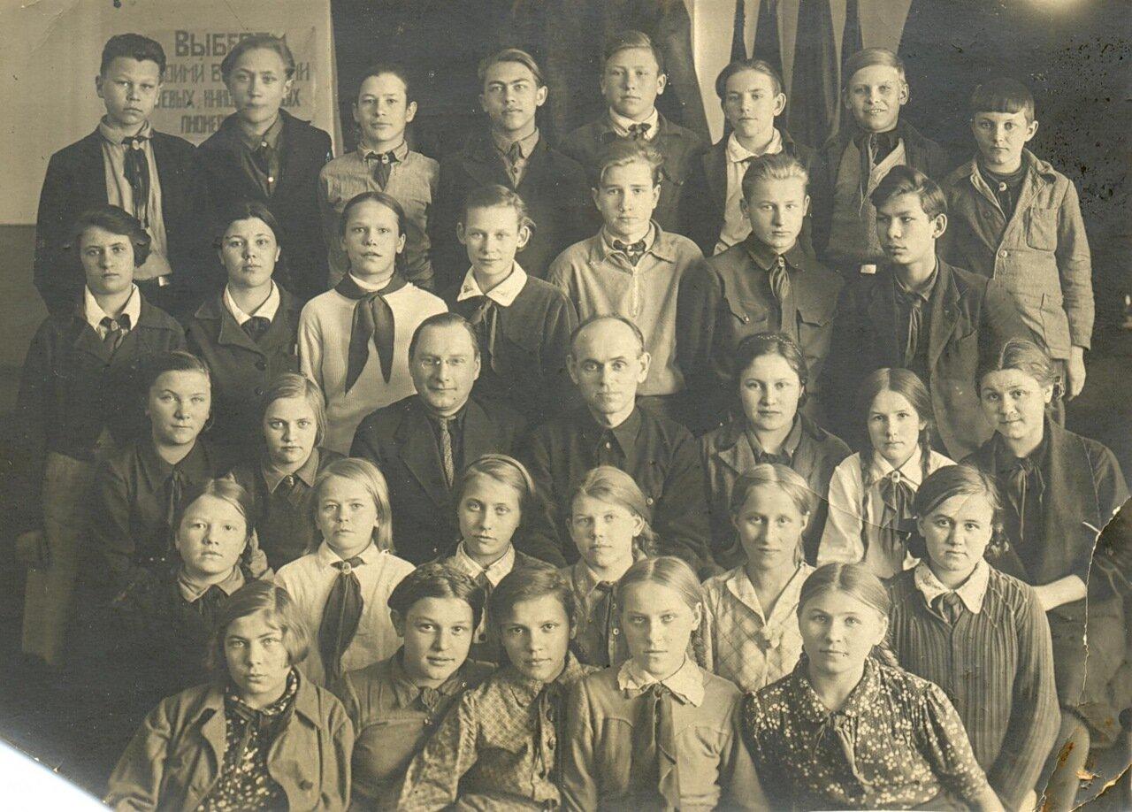 1941. Ярославль, школа № 55 имени Некрасова на улице Советской, д.10