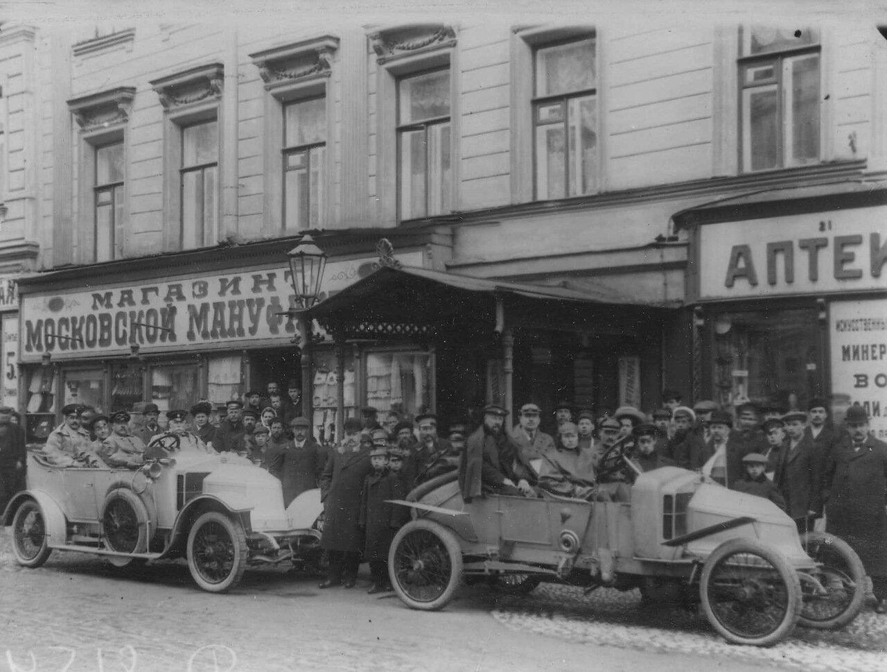 Автомобили - участники пробега на Садовой улице