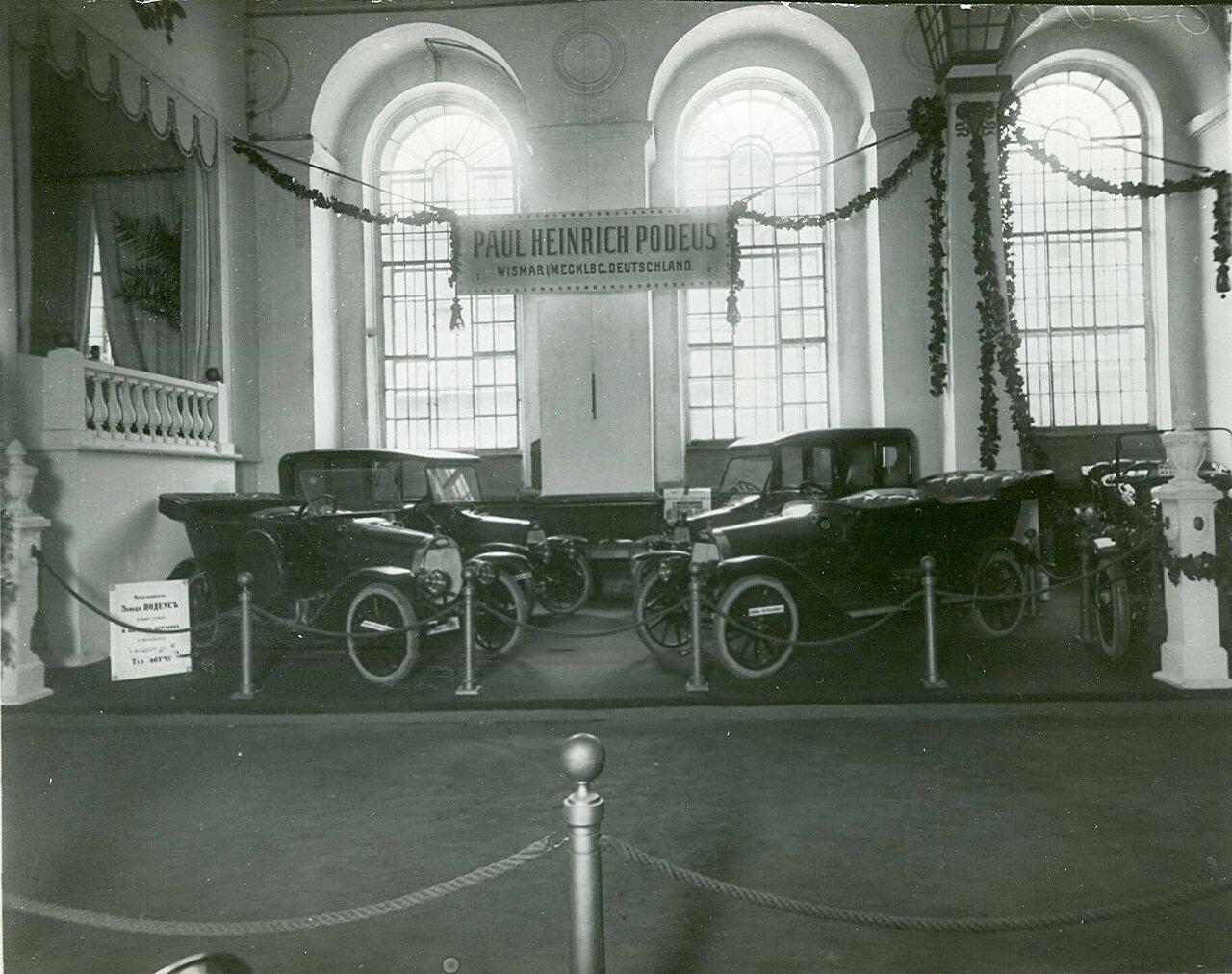 61. Экспонаты выставки  автомобили немецкой фирмы Подеус