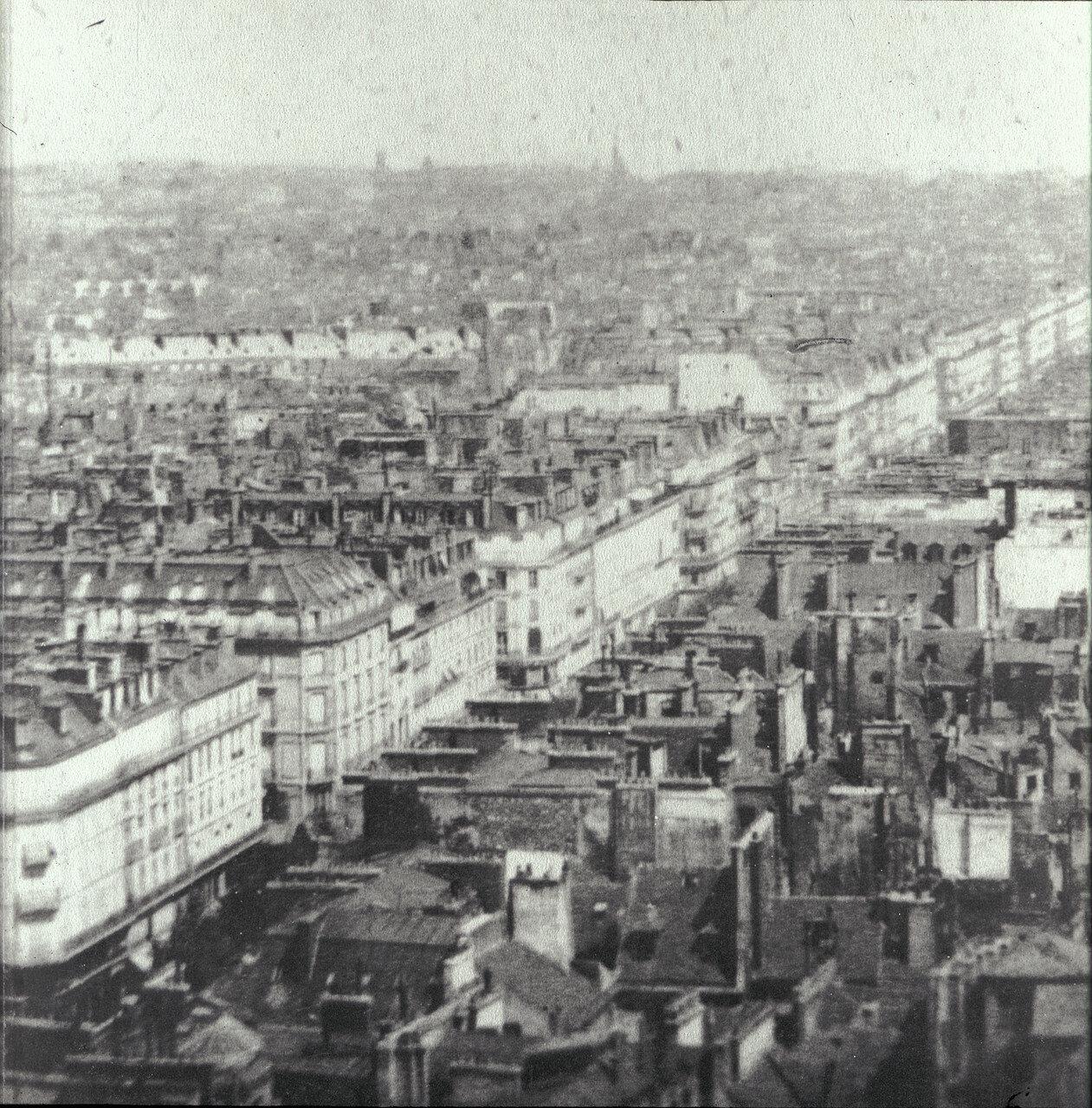 1859.  Вид Парижа с воздушного шара