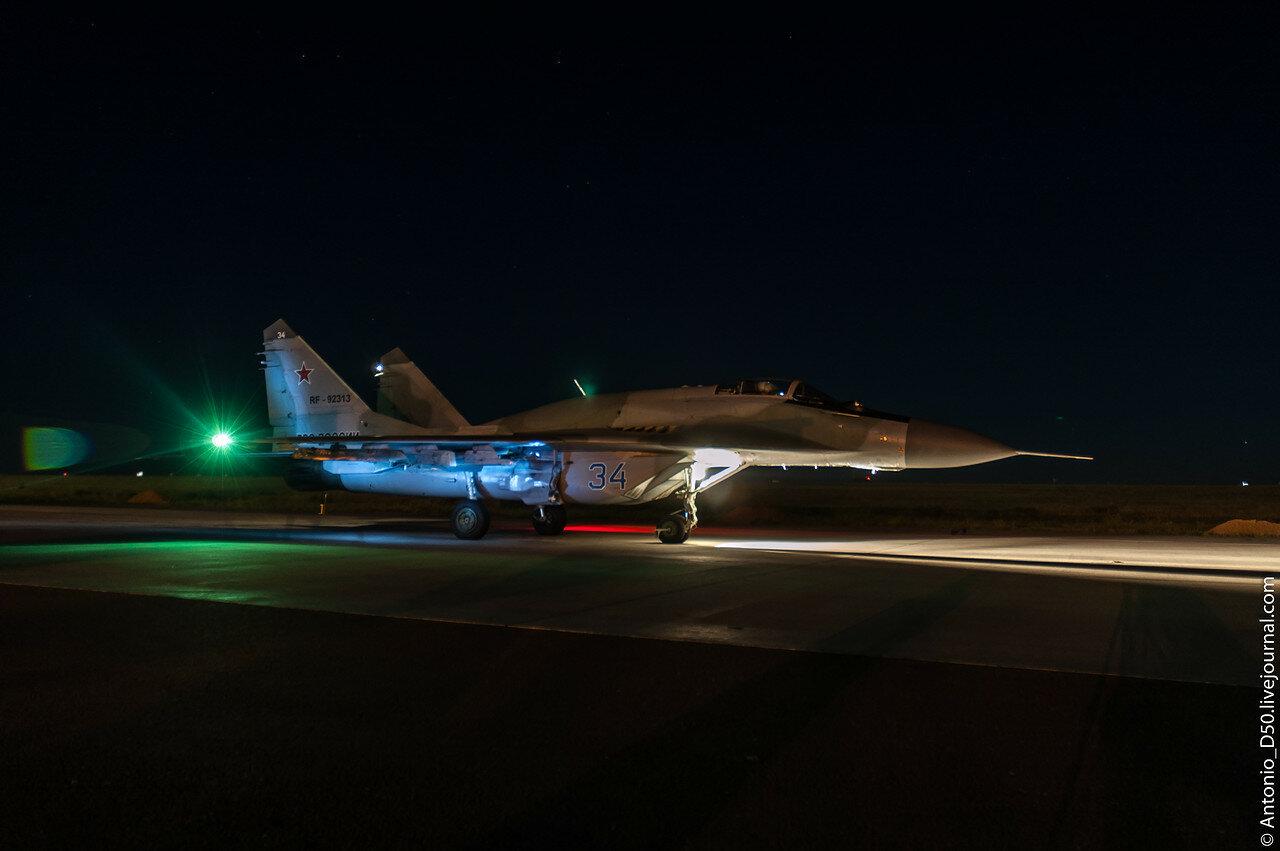 МиГ-29СМТ (9.19) Бортовой: RF-92313 / 34. Ночной вылет.
