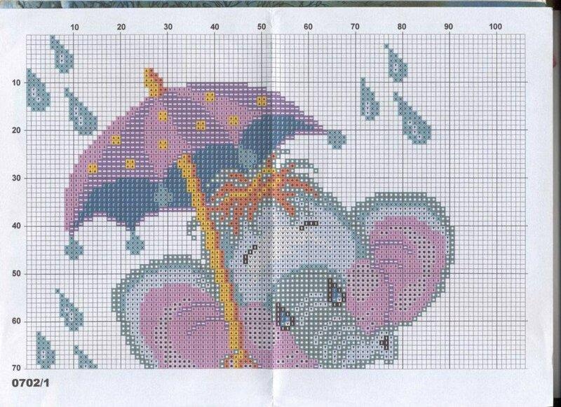 слоник под зонтом - схема 1