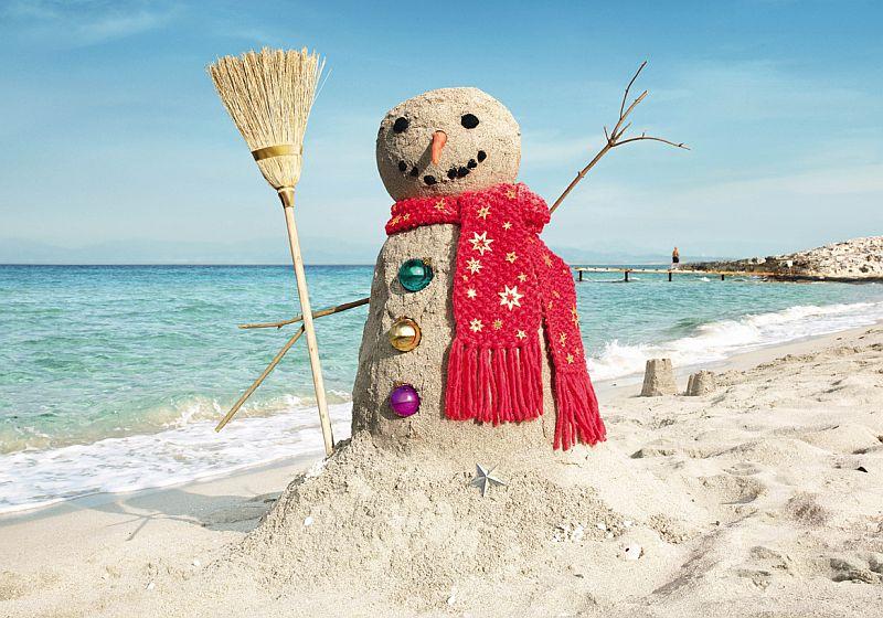 Рисунки, картинки смешные снеговик летом