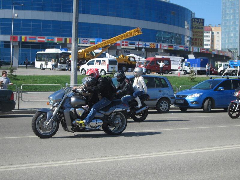 Ребенок намотоцикле