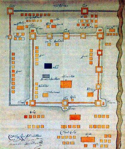 План крепости Козлова. 1720-е годы