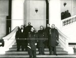 Группа военных в зале Государственной думы.