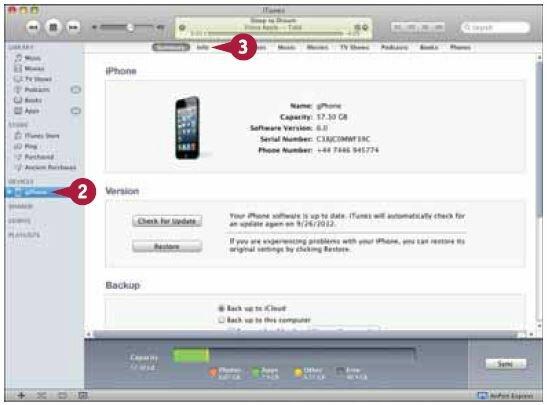 iTunes запустится или активируется, а iPhone появится в списке устройств