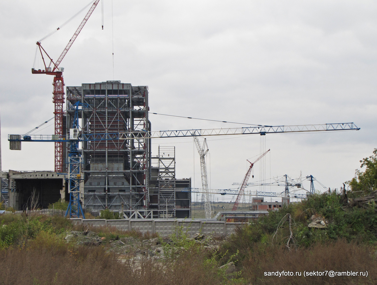 Ход строительства на ГРЭСе (04-10-2013)