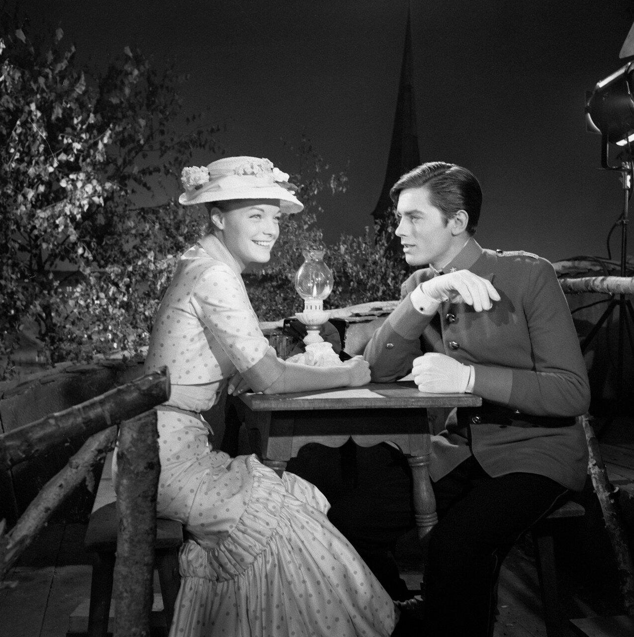 1958. На съемках «Кристины» с Роми