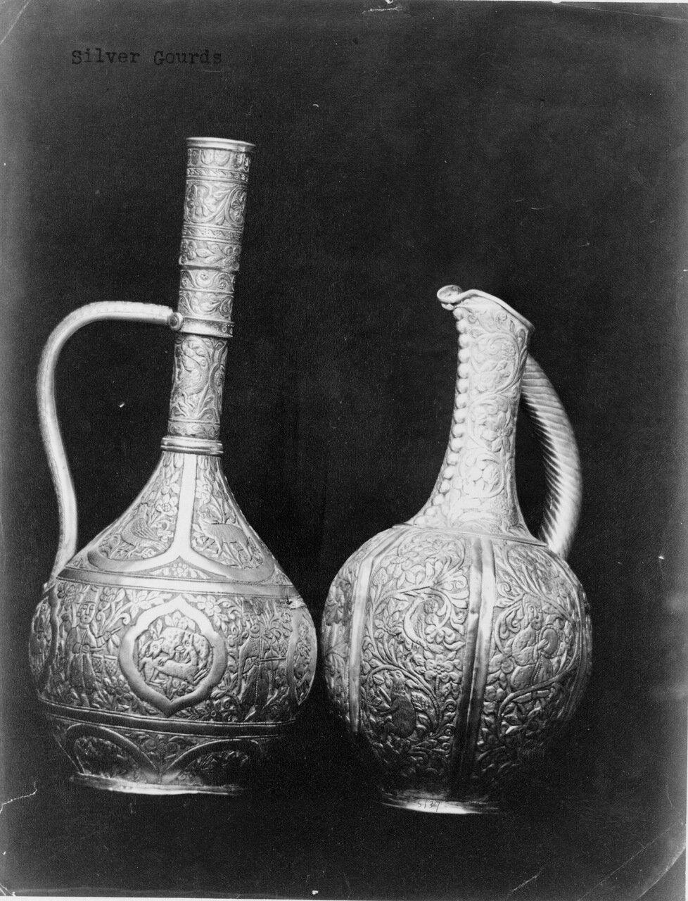Серебряные сосуды от грузинских мастеров