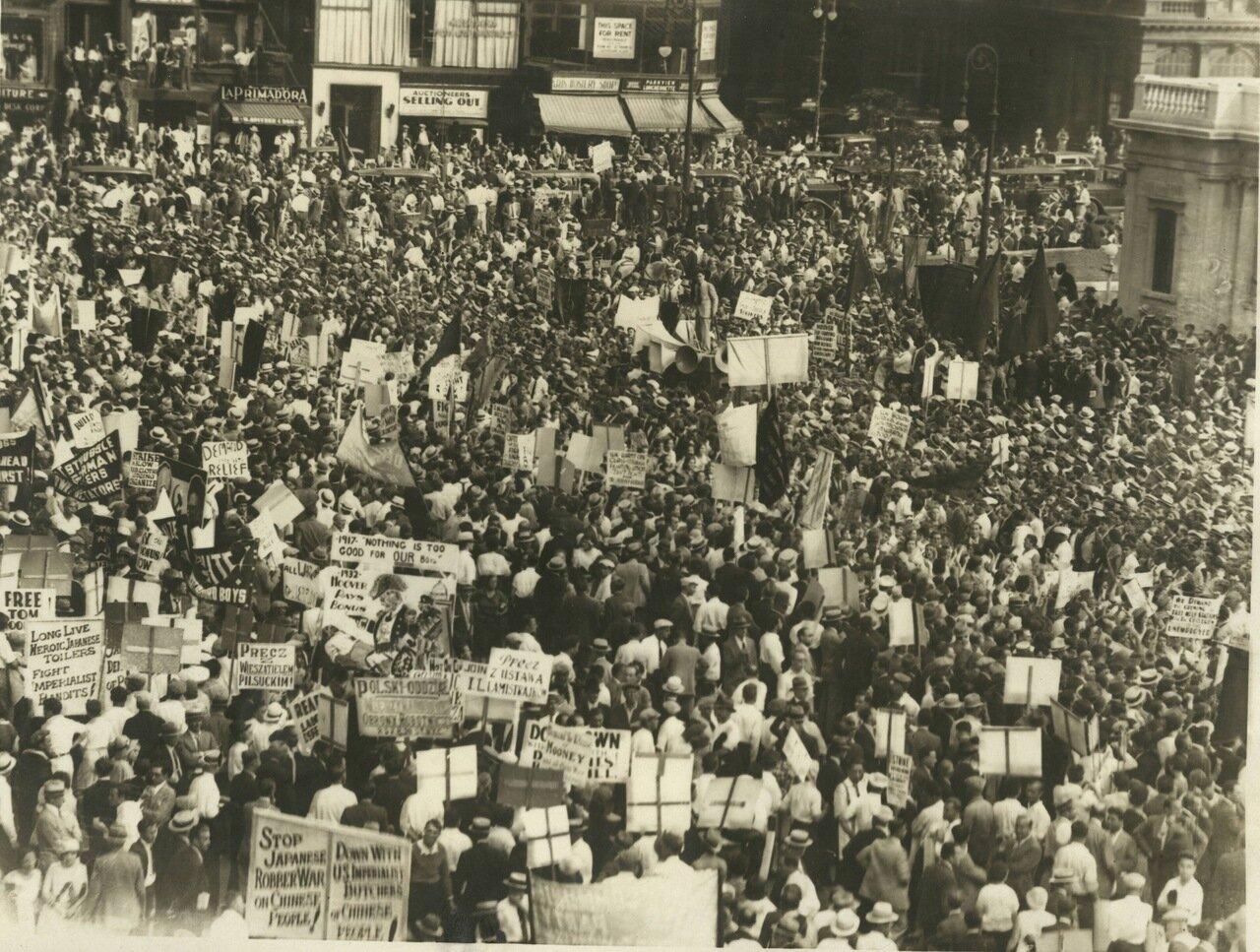 1932. Митинг коммунистов на Юнион Сквер в Сан-Франциско