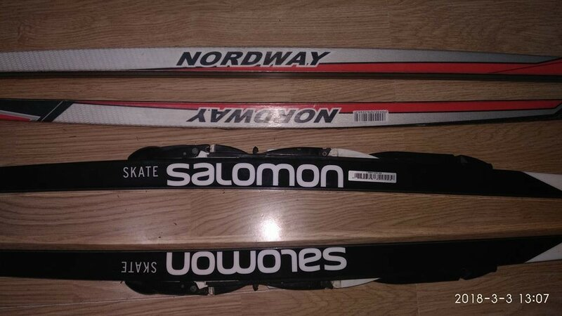 Лыжи беговые NORDWAY RS Skate и SALOMON RS SKATE X-Steef.jpg
