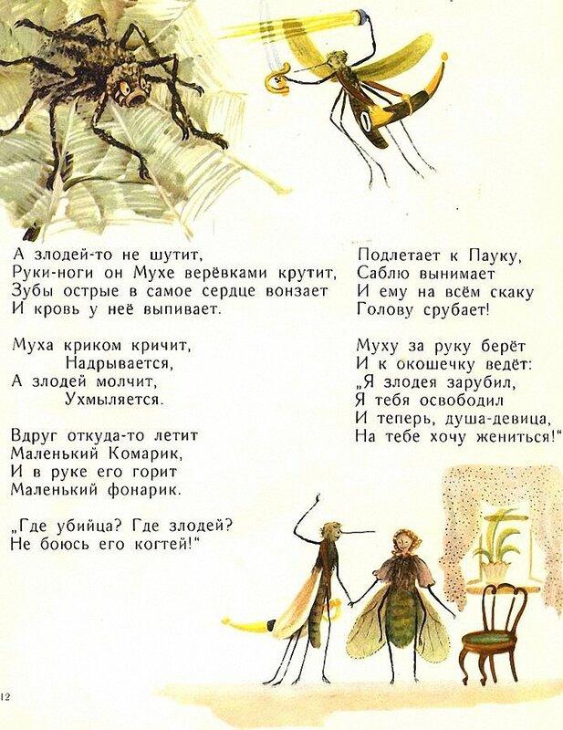 Стих в картинках муха цокотуха