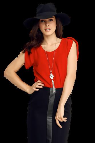 клипарт девушек  в красном с черным