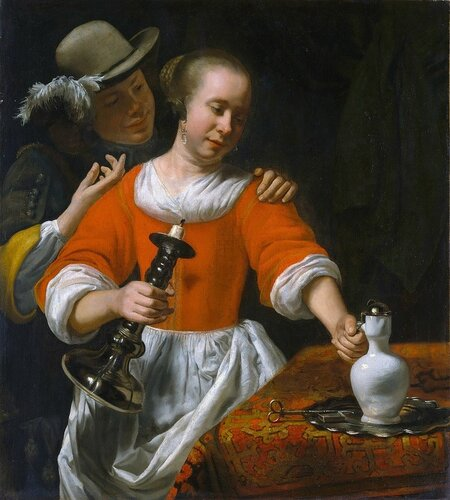 Cornelis Bisschop - Young Woman and a Cavalier