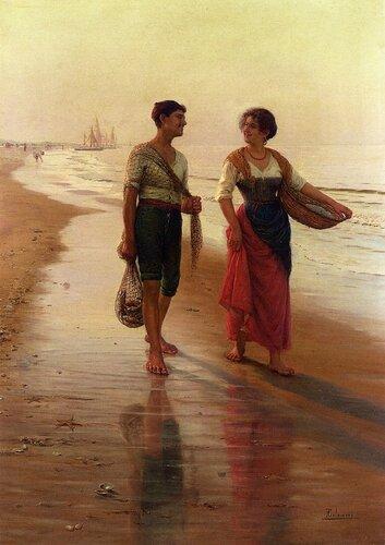 Подборка картин  «Побережье (пляж) в живописи»