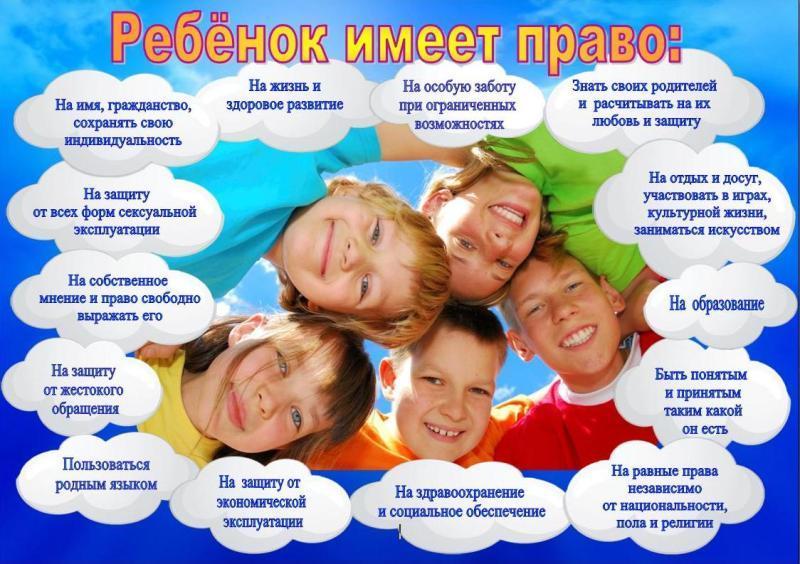 20 ноября - Всероссийский день правовой помощи детям. Права ребенка