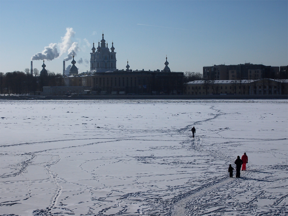 фото, петербург, весна, набережная, нева, лед, торосы