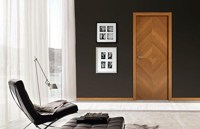 Двери с покрытием из шпона