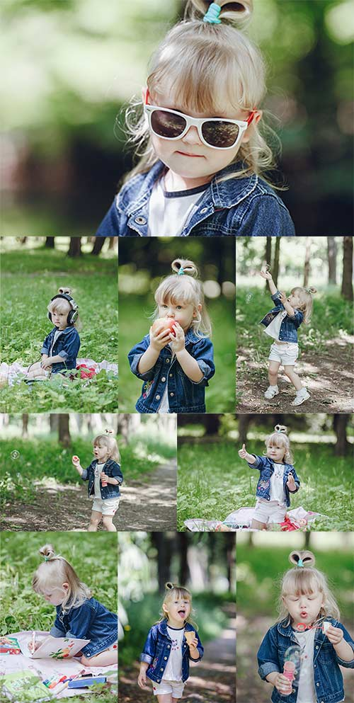 Красивая маленькая девочка - Клипарт / Beautiful little girl - Clipart