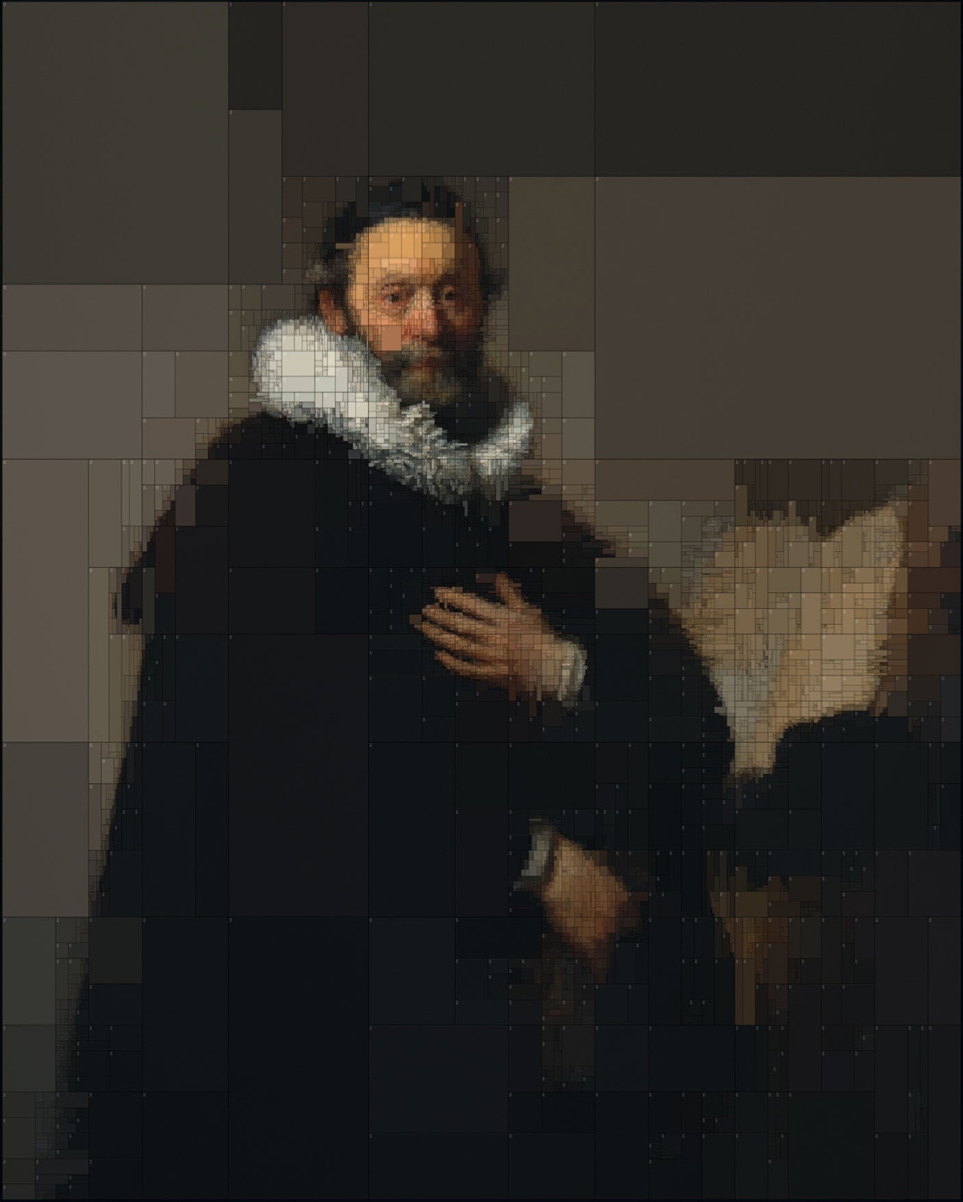 Color Palettes of Historic Paintings Subdivided with Algorithms by Dimitris Ladopoulos (9 pics)