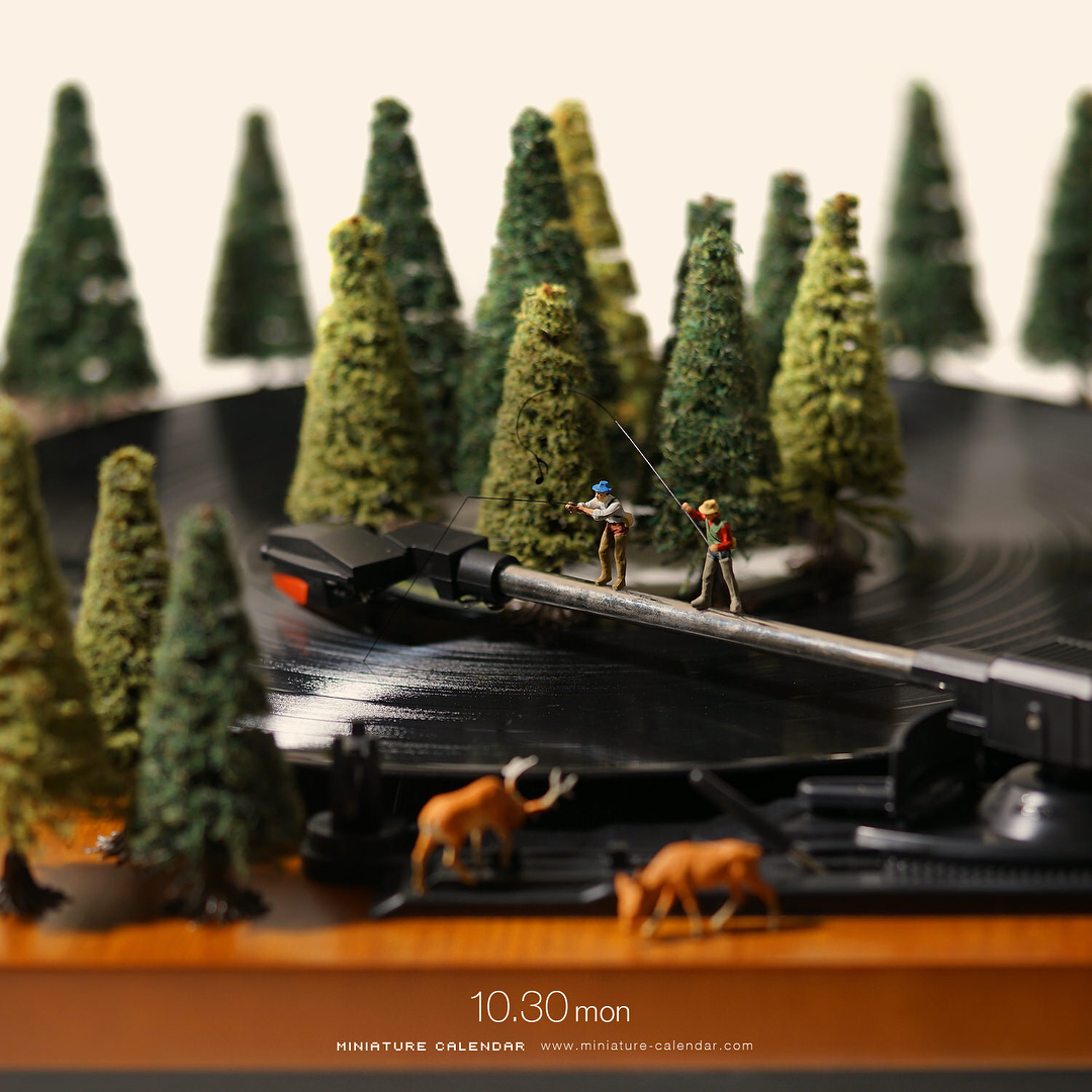 Tatsuya Tanaka Continues Building Tiny Worlds in his Daily Miniature Calendar Photo Project