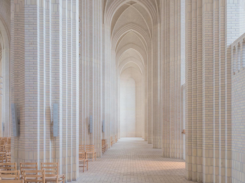 Breathtaking Interior Images of Copenhagen's Rare Expressionist Church