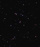 Рассеянное звёздное скопление М44 (Ясли, Улей). Кроп центра кадра.