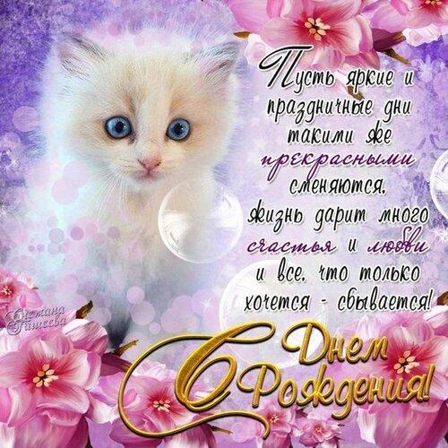Поздравления с днём рождения котики