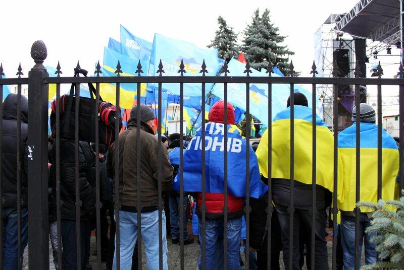 Митинг Партии Регионов под Верховной Радой