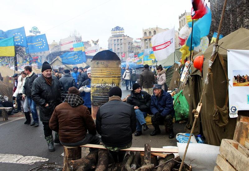 Пункт обогрева под Домом профсоюзов
