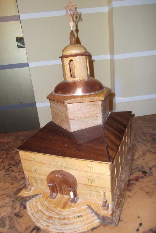 Модель пражской синагоги