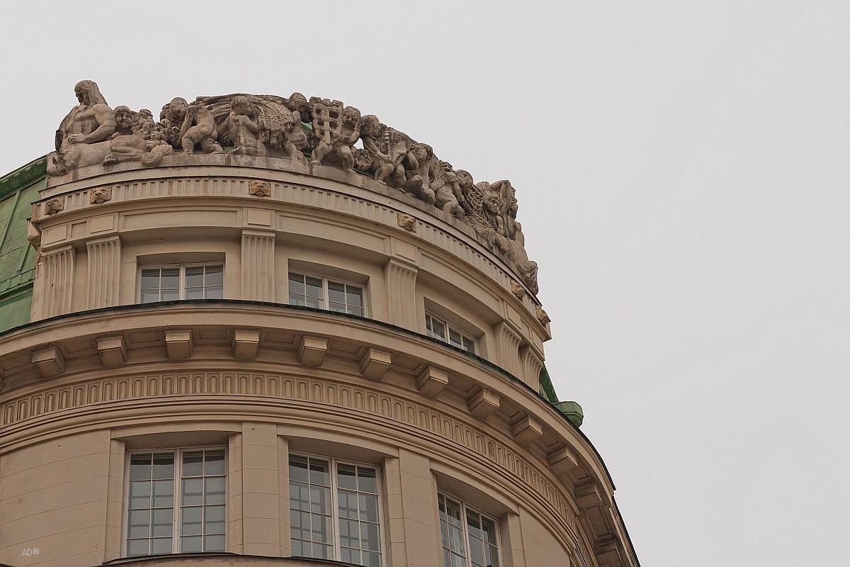 100-летнее здание, в котором ранее находился Банк Австрия Кредитанштальт