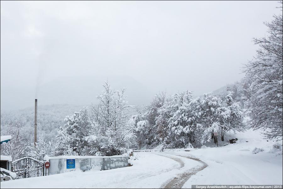 Суровая крымская зима