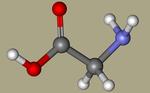 Glycine - aminoacetic acid, Glycocoll, Glycolixir, Aminoethanoic acid, 2-Aminoacetic acid, Glicoamin, Glycosthene, Aciport, Padil-CID_750.png