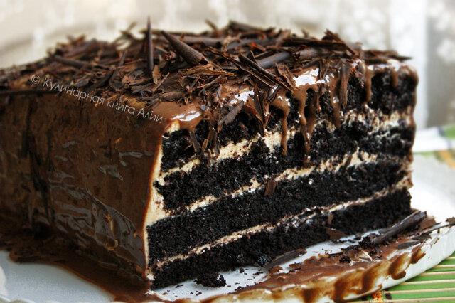 мокрый шоколадный торт рецепт с фото