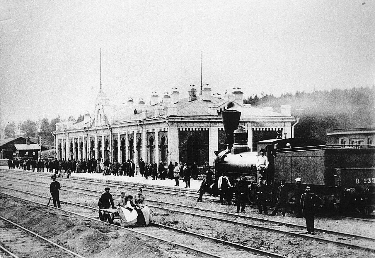1900.Вокзал Златоуст с путей.