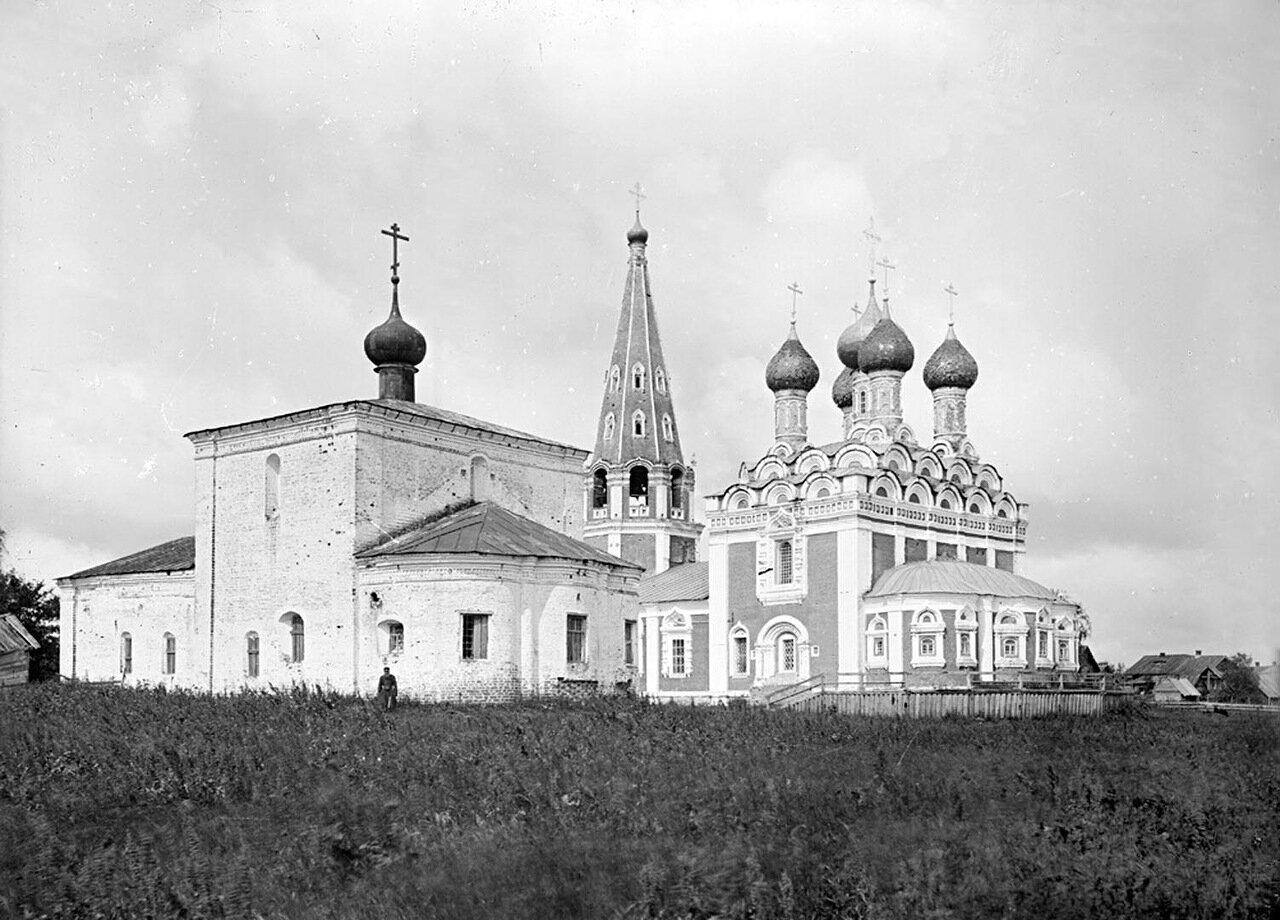 Общий вид Спасской церкви. 1894 г. г. Балахна, Нижегородская губерния.