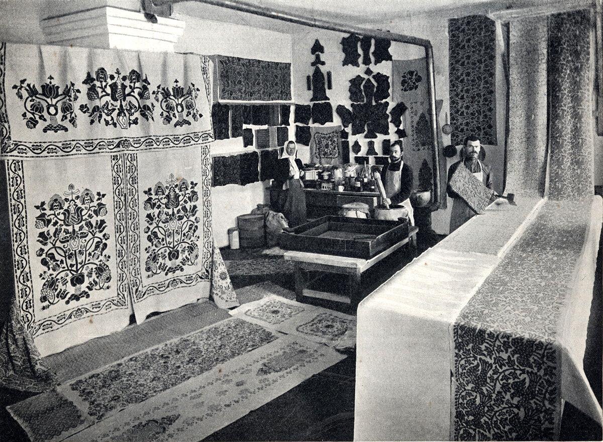 Набойная мастерская в с. Олефировке Миргородского уезда, Полтавской губ. Начало XX века