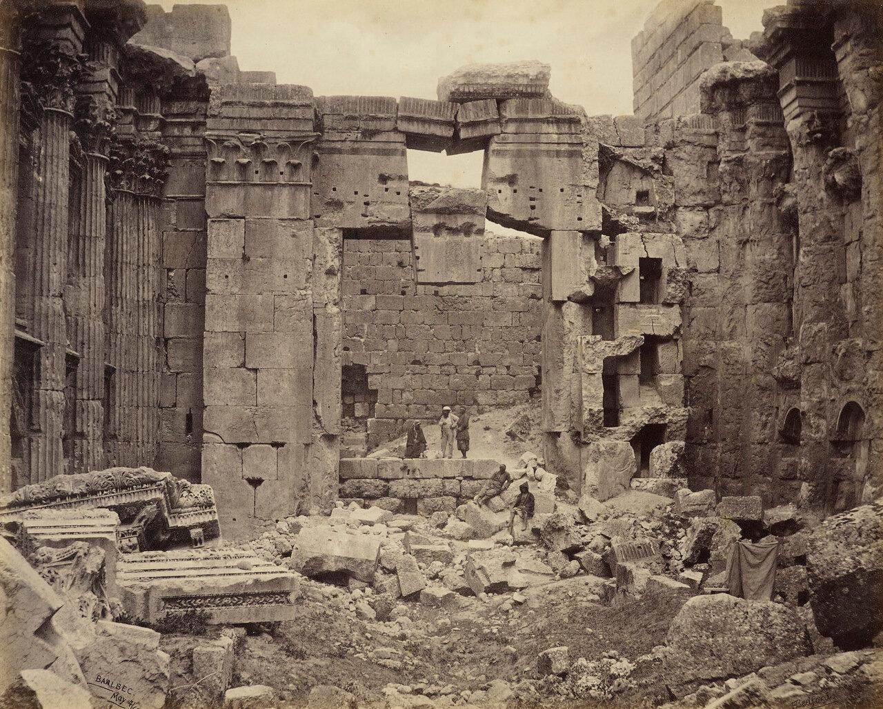 4 мая 1862. Внутренний вид храма Бахуса, Баальбек