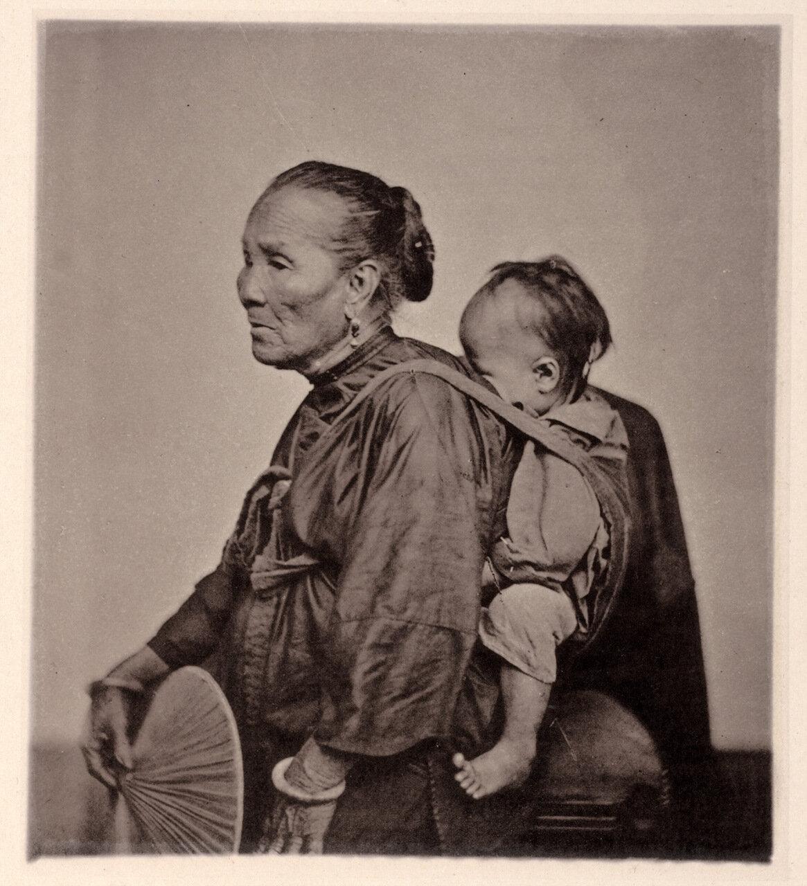 Кантонская лодочница с ребенком